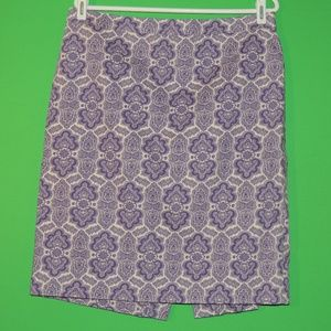 J.CREW Womens 12 No. 2 Pencil Purple Skirt